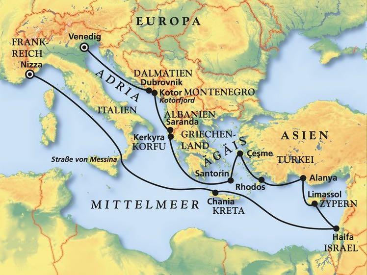 Mittelmeer-Kreuzfahrt